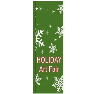 FF-S-310-ARTFAIR Holiday Art Fair 3' x 10' Square Flag-0