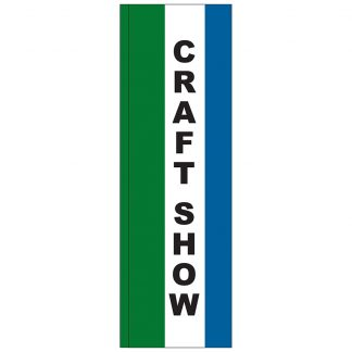 FF-S-310-CRAFT Craft Show 3' x 10' Square Feather Flag-0