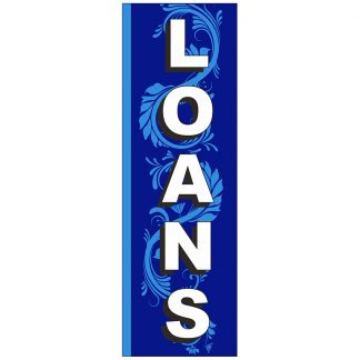 FF-S-310-LOANS Loans 3' x 10' Square Feather Flags-0