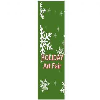 FF-S-312-ARTFAIR Holiday Art Fair 3' x 12' Square Flag-0