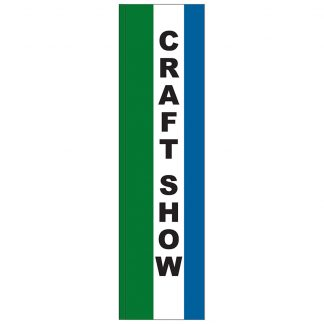 FF-S-312-CRAFT Craft Show 3' x 12' Square Feather Flag-0