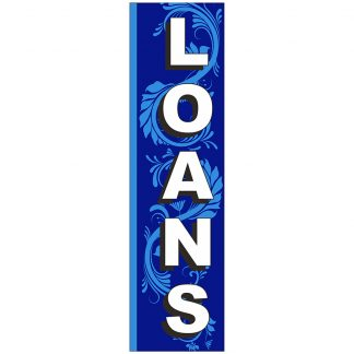FF-S-312-LOANS Loans 3' x 12' Square Feather Flags-0