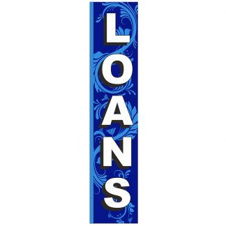FF-S-315-LOANS Loans 3' x 15' Square Feather Flags-0