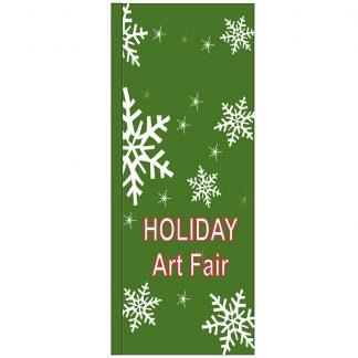 FF-S-38-ARTFAIR Holiday Art Fair 3' x 8' Square Flag-0