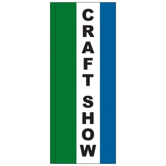 FF-S-38-CRAFT Craft Show 3' x 8' Square Feather Flag-0