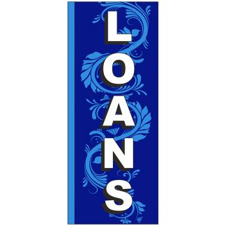 FF-S-38-LOANS Loans 3' x 8' Square Feather Flags-0