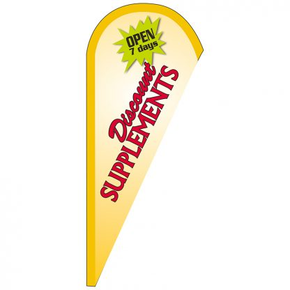 FF-T-38-SUPPLEMENTS Discount Supplements 3' x 8' Teardrop Feather Flag-0