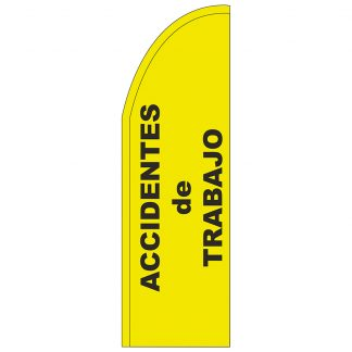 FF-T2-310-ACCIDENTS Accidents 3' x 10' Half Drop Feather Flag-0