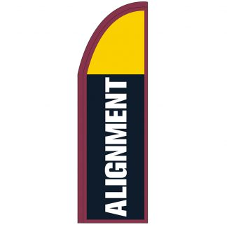 FF-T2-310-ALIGN Alignment 3' x 10' Half Drop Feather Flag-0