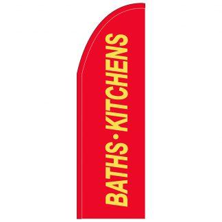FF-T2-310-BATHS Baths & Kitchens 3' x 10' Half Drop Feather Flag-0