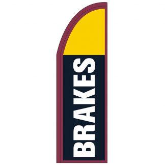 FF-T2-310-BRAKES Brakes 3' x 10' Half Drop Feather Flag-0
