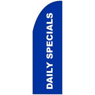 FF-T2-310-DAILYSPECIALS Daily Specials 3' x 10' Half Drop Feather Flag-0