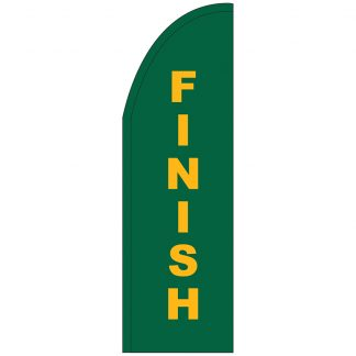 FF-T2-310-FINISH Finish 3' x 10' Half Drop Feather Flag-0