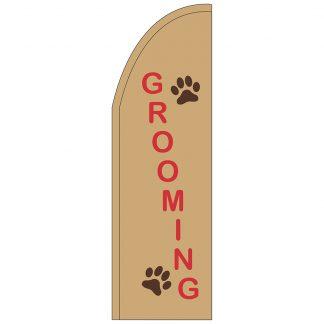 FF-T2-310-GROOMING Grooming 3' x 10' Half Drop Feather Flag-0