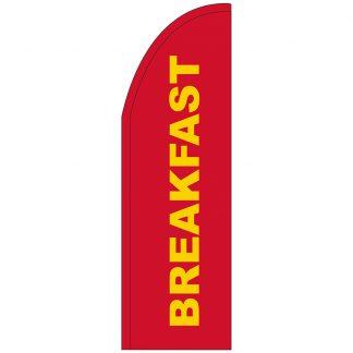 FF-T2-310-REDBREAKFAST Red Breakfast 3' x 10' Half Drop Feather Flag-0
