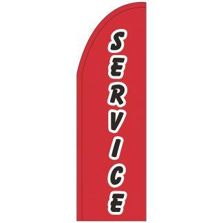 FF-T2-310-SERVICE Service 3' x 10' Half Drop Feather Flag-0
