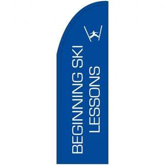 FF-T2-310-SKI Beginning Ski Lessons 3' x 10' Half Drop Feather Flag-0