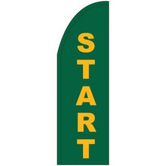 FF-T2-310-START Start 3' x 10' Half Drop Feather Flag-0