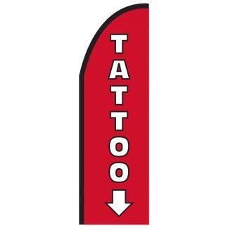 FF-T2-310-TATTOO Tattoo 3' x 10' Half Drop Feather Flag-0