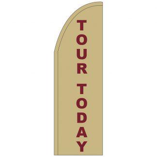 FF-T2-310-TOUR Tour Today 3' x 10' Half Drop Feather Flag-0