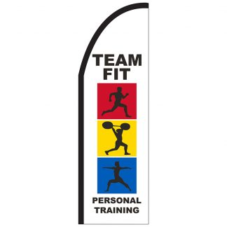 FF-T2-310-TRAINING Personal Training 3' x 10' Half Drop Feather Flag-0