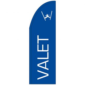FF-T2-310-VALET Valet 3' x 10' Half Drop Feather Flag-0