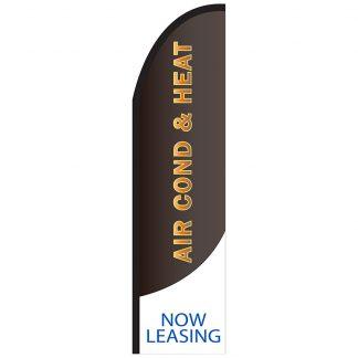 FF-T2-312-ACHEAT Air Conditioning & Heat 3' x 12' Half Drop Feather Flag-0
