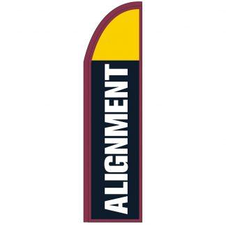 FF-T2-312-ALIGN Alignment 3' x 12' Half Drop Feather Flag-0