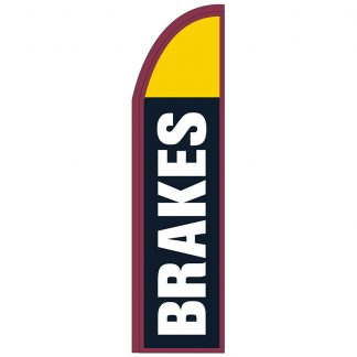 FF-T2-312-BRAKES Brakes 3' x 12' Half Drop Feather Flag-0