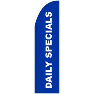 FF-T2-312-DAILYSPECIALS Daily Specials 3' x 12' Half Drop Feather Flag-0