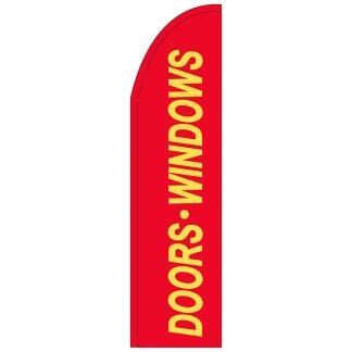 FF-T2-312-DOORS Doors & Windows 3' x 12' Half Drop Feather Flag-0