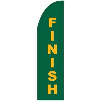 FF-T2-312-FINISH Finish 3' x 12' Half Drop Feather Flag-0