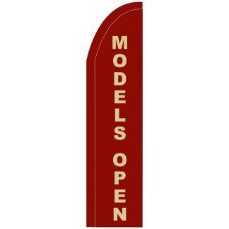 FF-T2-312-MODELS Models Open 3' x 12' Half Drop Feather Flag-0