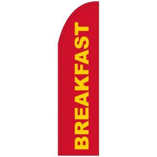 FF-T2-312-REDBREAKFAST Red Breakfast 3' x 12' Half Drop Feather Flag-0