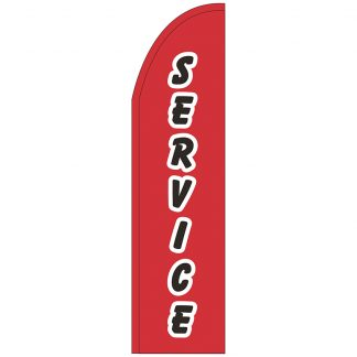 FF-T2-312-SERVICE Service 3' x 12' Half Drop Feather Flag-0