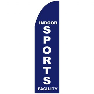 FF-T2-312-SPORTS Indoor Sports Facility 3' x 12'Half Drop Feather Flag-0