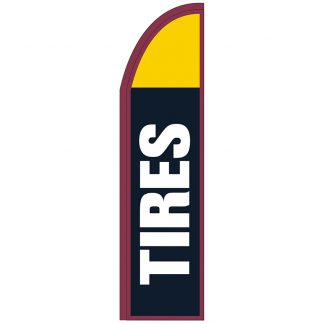 FF-T2-312-TIRES Tires 3' x 12' Half Drop Feather Flags-0