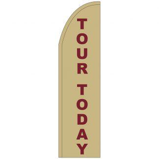 FF-T2-312-TOUR Tour Today 3' x 12' Half Drop Feather Flag-0