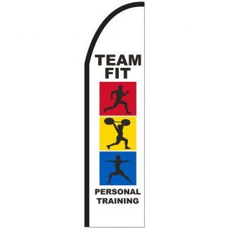 FF-T2-312-TRAINING Personal Training 3' x 12' Half Drop Feather Flag-0