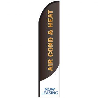 FF-T2-315-ACHEAT Air Conditioning & Heat 3' x 15' Half Drop Feather Flag-0