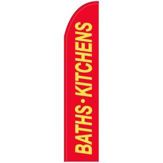FF-T2-315-BATHS Baths & Kitchens 3' x 15' Half Drop Feather Flag-0