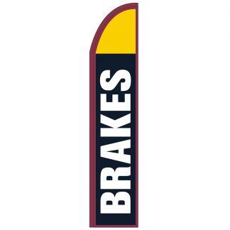 FF-T2-315-BRAKES Brakes 3' x 15' Half Drop Feather Flag-0