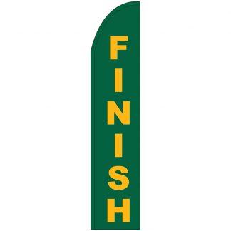 FF-T2-315-FINISH Finish 3' x 15' Half Drop Feather Flag-0