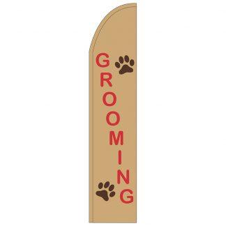 FF-T2-315-GROOMING Grooming 3' x 15' Half Drop Feather Flag-0