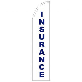 FF-T2-315-INSURANCE Insurance 3' x 15' Half Drop Feather Flag-0