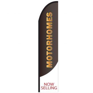 FF-T2-315-MOTORHOMES Motor Homes 3' x 15' Half Drop Feather Flag-0