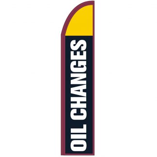 FF-T2-315-OIL Oil Changes 3' x 15' Half Drop Feather Flag-0