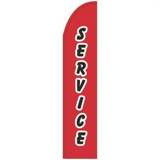 FF-T2-315-SERVICE Service 3' x 15' Half Drop Feather Flag-0