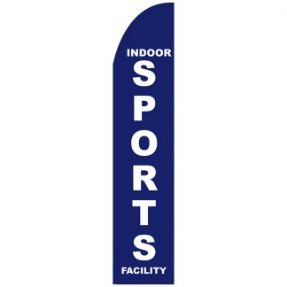 FF-T2-315-SPORTS Indoor Sports Facility 3' x 15' Half Drop Feather Flag-0