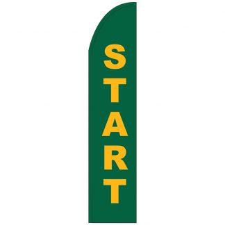 FF-T2-315-START Start 3' x 15' Half Drop Feather Flag-0